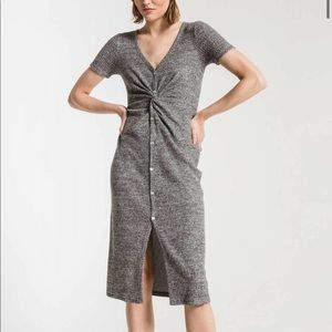 NWT Zsupply Waffle Thermal Twist Front Dress
